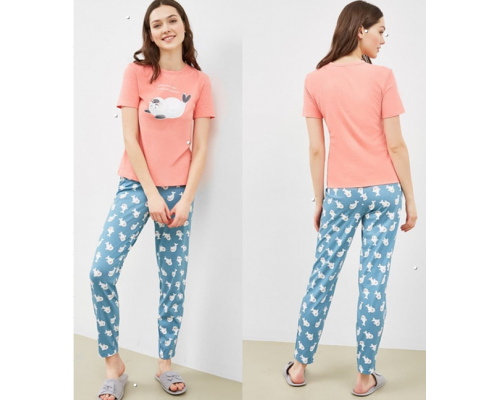 592369, Комплект женский (футболка, брюки)